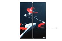 Beautiful Lady Figure Oil Painting on Canavs for Living Room