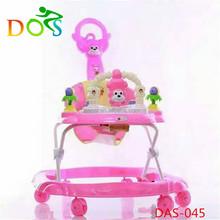 CE standard baby walker/best price baby carrier infant walker/8 wheels plastic baby walker