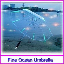 Promoción led paraguas publicidad paraguas del led, Plegable paraguas transparente con la luz llevada