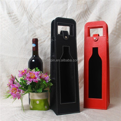 Wholesale Leather Tote Carrier Wine Bag