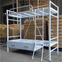 Colloge SCHOOL FURNITURE Dormitory Student Double Deck Bed/With Two Drawer Metal Bunk Bed/Steel Bunk Bed Prices
