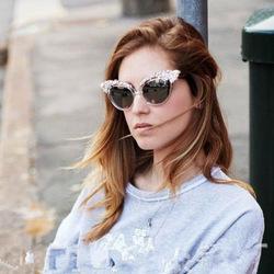 156 ewlxdz European American street shooting sunglasses wheat goddess crown female models super black diamond decorative metal s