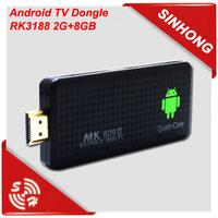 China media player hdmi dongle android tv box mk809iii rk3188 quad core