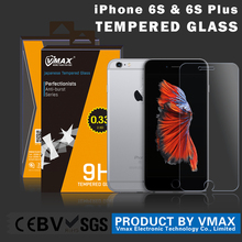 China Factory supply reusable 0.2mm thickness 9h hardness tempered glass screen guard for iPhone 6s plus