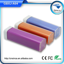 mobile phone accessory lipstick power bank 2200mah mobile phone charger
