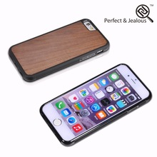 Top quality Natural wood lether flip cover for iphone 6