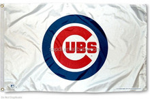 Chicago Cubs Flag - White