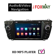 Android 4.4 car audio video entertainment navigation system with free Mirro-link &Airplay