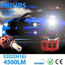 Qeedon 2015 updated high power h9 led headlight bulb u-light auto from