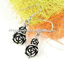 Fashion alloy rose earrings