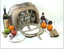 600D Oxford 4 Person Picnic Camping Bag with Cutlery