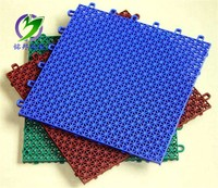 Outdoor soft plastic click tile play mat for table tennis court
