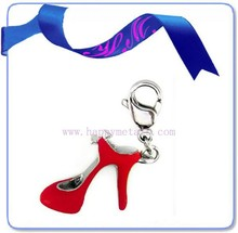 Fashion 2015 charm pendant wholesale, stainless steel high heel charm(CH-32)