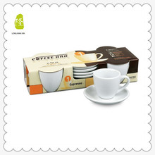 2015 Innovative Products Porcelain Espresso Coffee Cup With Saucer Set