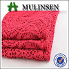 Mulinsen Textile Soft and Light Polyester Spandex Knitted Jacquard Dress Fabric