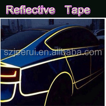 3m visible bright blue white yellow red decoration stripes, adhesive reflective tapes for car