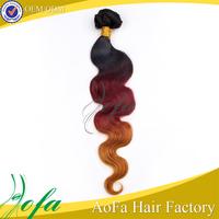 wholesale unprocessed 7a ombre loose wave free tangle brazilian ombre kanekalon braiding hair