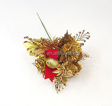 Elegant Holiday Metallic Gift and Ornament Picks - Perfect for Christmas Floral Arrangements, Weddings, and Any Winter Decor