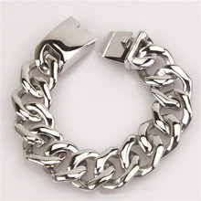 zly666 Silver Color High Polished Spiral Stainless Steel Link Chain Men's Bracelet