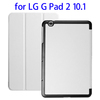 Factory price 3 Folding tablet cover for LG G Pad 2 10.1 V940 flip cover