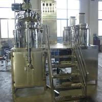 Fixed Type vacuum emulsifying mixer, cosmetic facial and body cream making / mixing machine