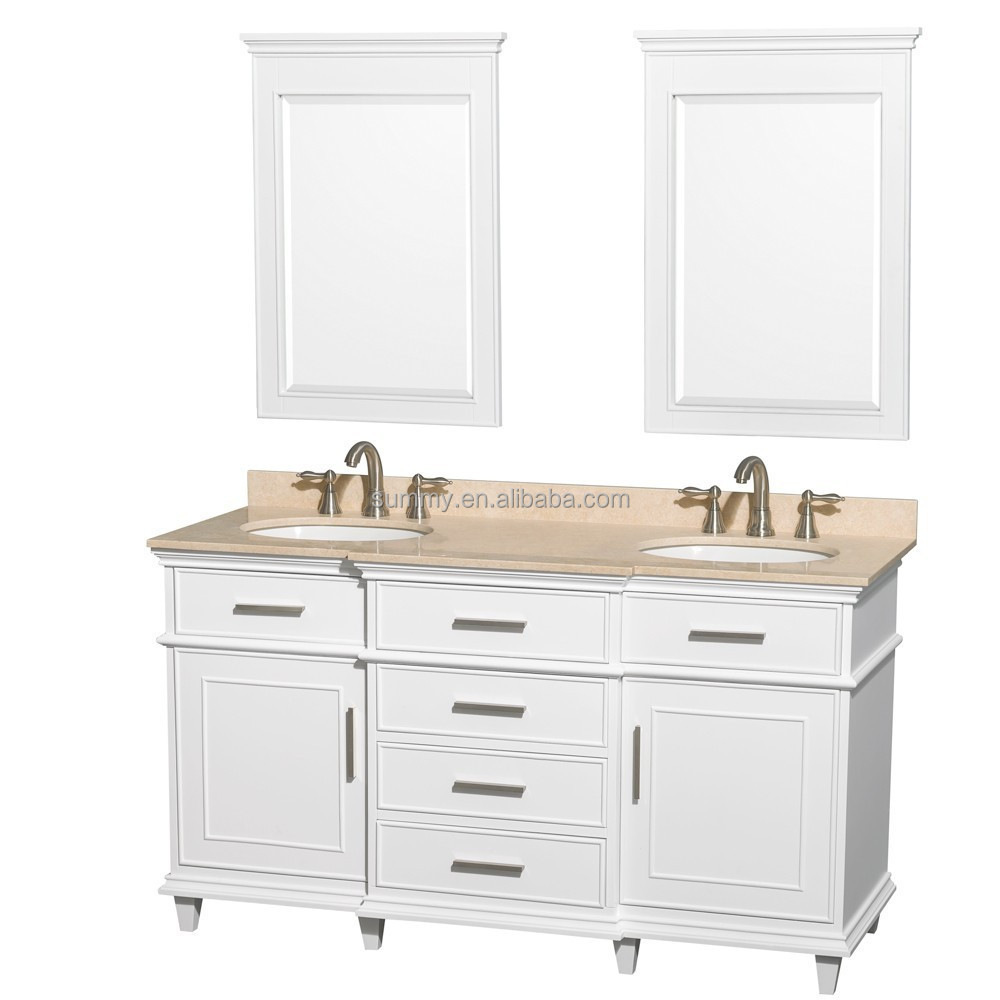 Sv Free Standing 60 Inch White Double Sink Anqitue