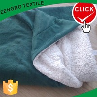 Bonded sherpa blanket