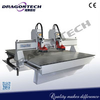 used advertising machinery in japan,3D double heads CNC Router,multi spindle wood carving machine DT1925D