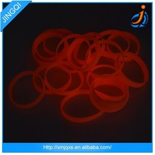 Noctilucent round silicone printing silicone rubber band