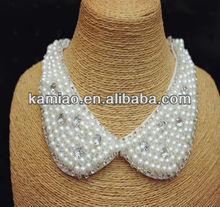 crystal collar pearl beaded necklace women fashion jewelry