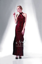 Unique Glamorous Classical black and red fashion dress Halter neck red sheath Evening Dresses
