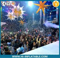 attractive Color changing LED stage light decoration Inflatable star with led lights