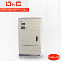 Single Phase/Three Phase TND/SJW/SBW/SVC 0.5K-5000K High-precision/Electronic type/LCD/ Digital color screen voltage regulator