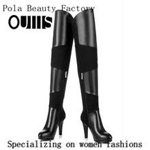 Botas de mujer de moda zapatos de tacón alto largo invierno botas n-hp808