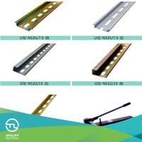 Din Rail Clamps Electrical Equipment 35mm Width 7.5mm Height Fixings Screws Cu/Aluminium
