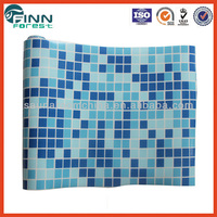 2m width 1.5mm thickness blue mosaic above ground swimming pool liner