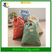 Custom fashion durable cotton drawstring shoe bags