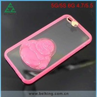 Flash Lighting PC Case For iPhone 6, For iPhone 6 Transparent Hard Slim Case
