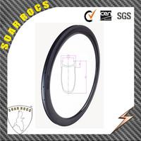 50mm 700c Carbon Clincher rims SoarRocs hot sale 23mm wide U Shape with Basalt breaking surface bicycle rims