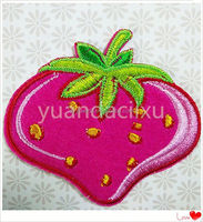 Cute animal embroidered patch and badges with adhesive back