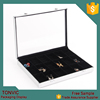 Silver Aluminum Jewelry Case with Glass Top and Lock