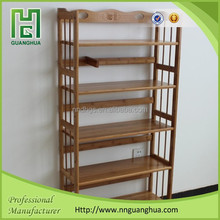 natural bamboo antique library bookshelf