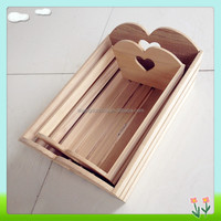 2014 New design eco-friendly wooden handcraft tray wholesale