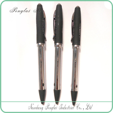 Matte black Color Printing Glue Spray metal barrel cheap fancy feather pen