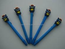 high quality cartoon animal wolf shaped polymer clay pen