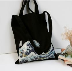 TT0086-2 Reshine Onling Shopping Three Straps No Closure Printed Cotton Canvas Souvenir Tote Bag