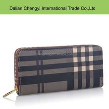 wholesale tartan most popular men pvc purse wallet