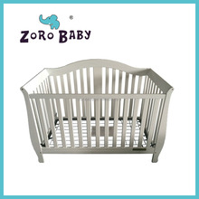 Best price wooden baby white color cot