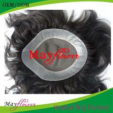 Fine Mono Hair Piece With PU Around Perimeter