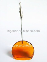polyresin orange stand note clip